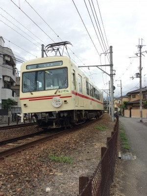 事務所の近所を走る叡山電車