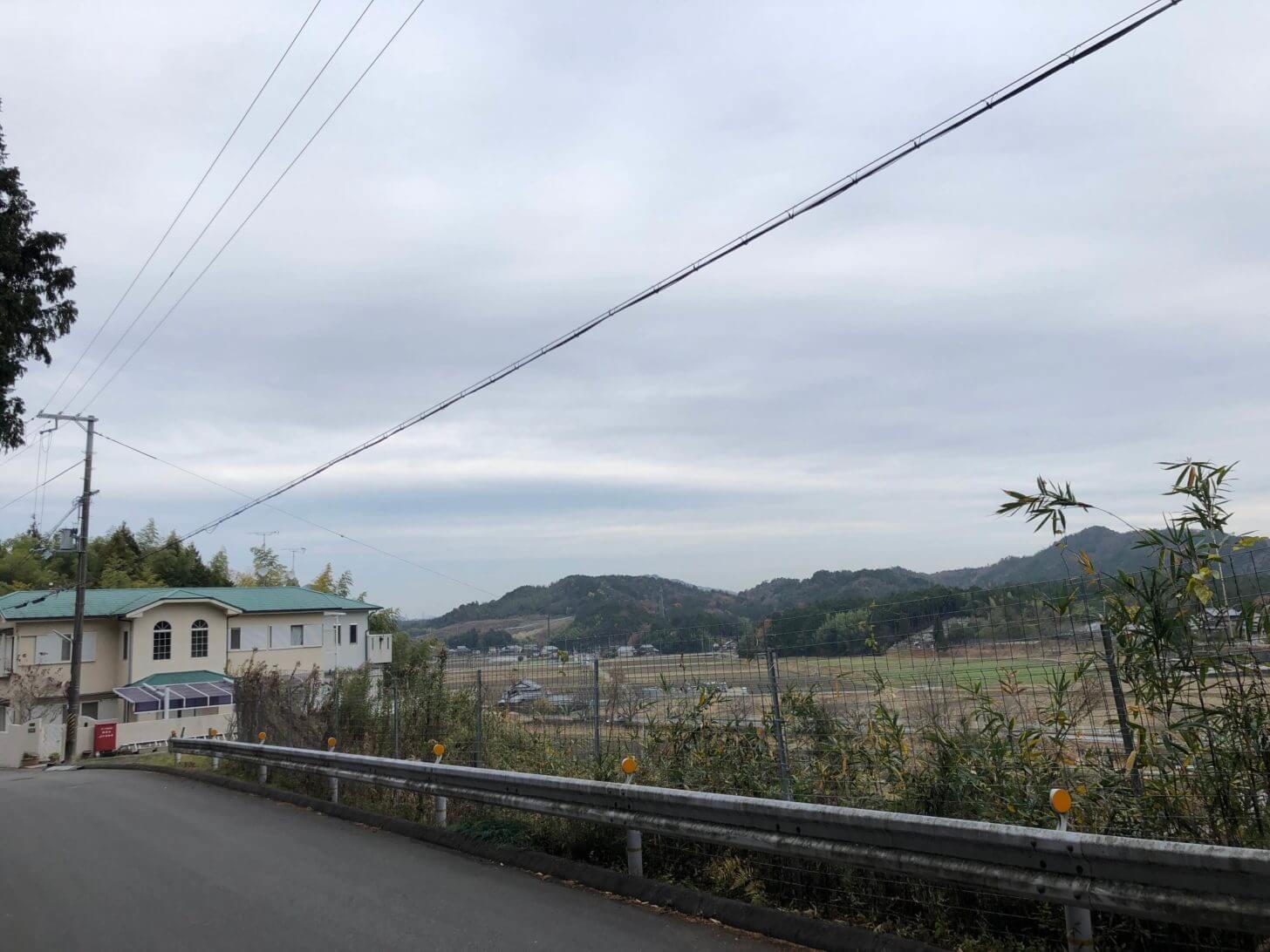 大野神社付近から望む栗東の街並み