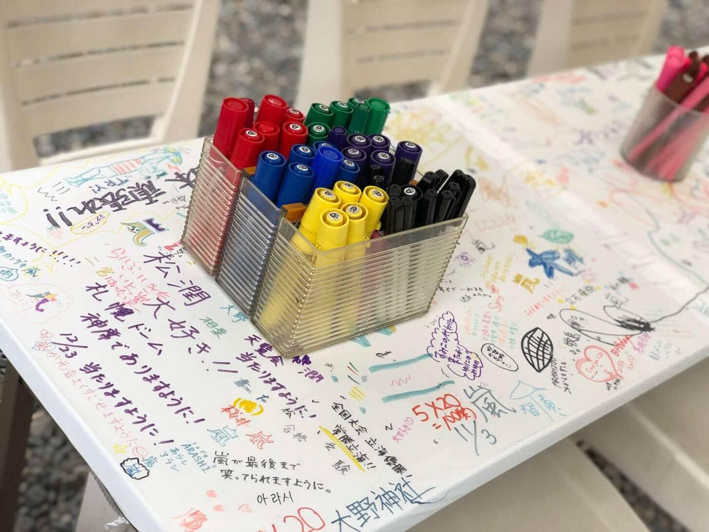 栗東・大野神社の絵馬記入所