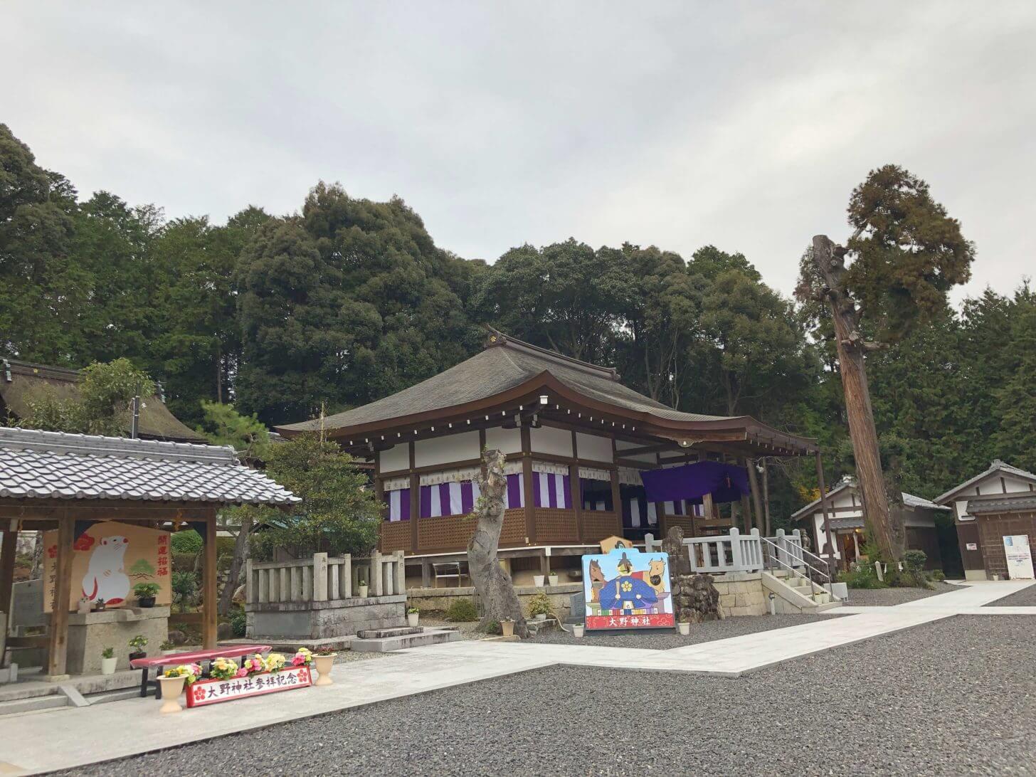 栗東・大野神社の境内の風景