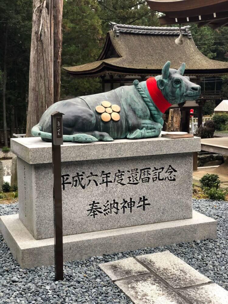 栗東・大野神社の神牛像
