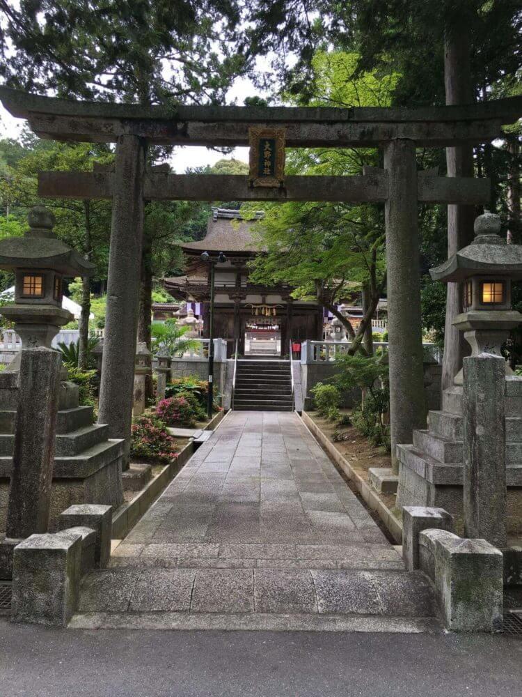 滋賀栗東・大野神社の鳥居