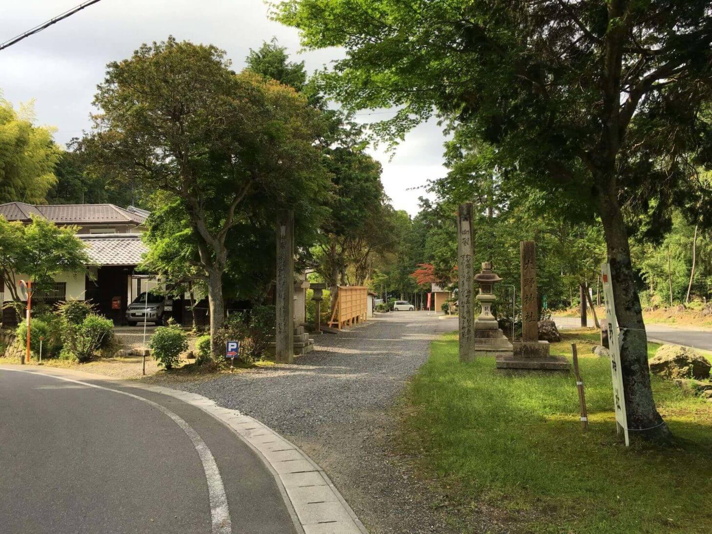 滋賀栗東・大野神社 北側からの外観
