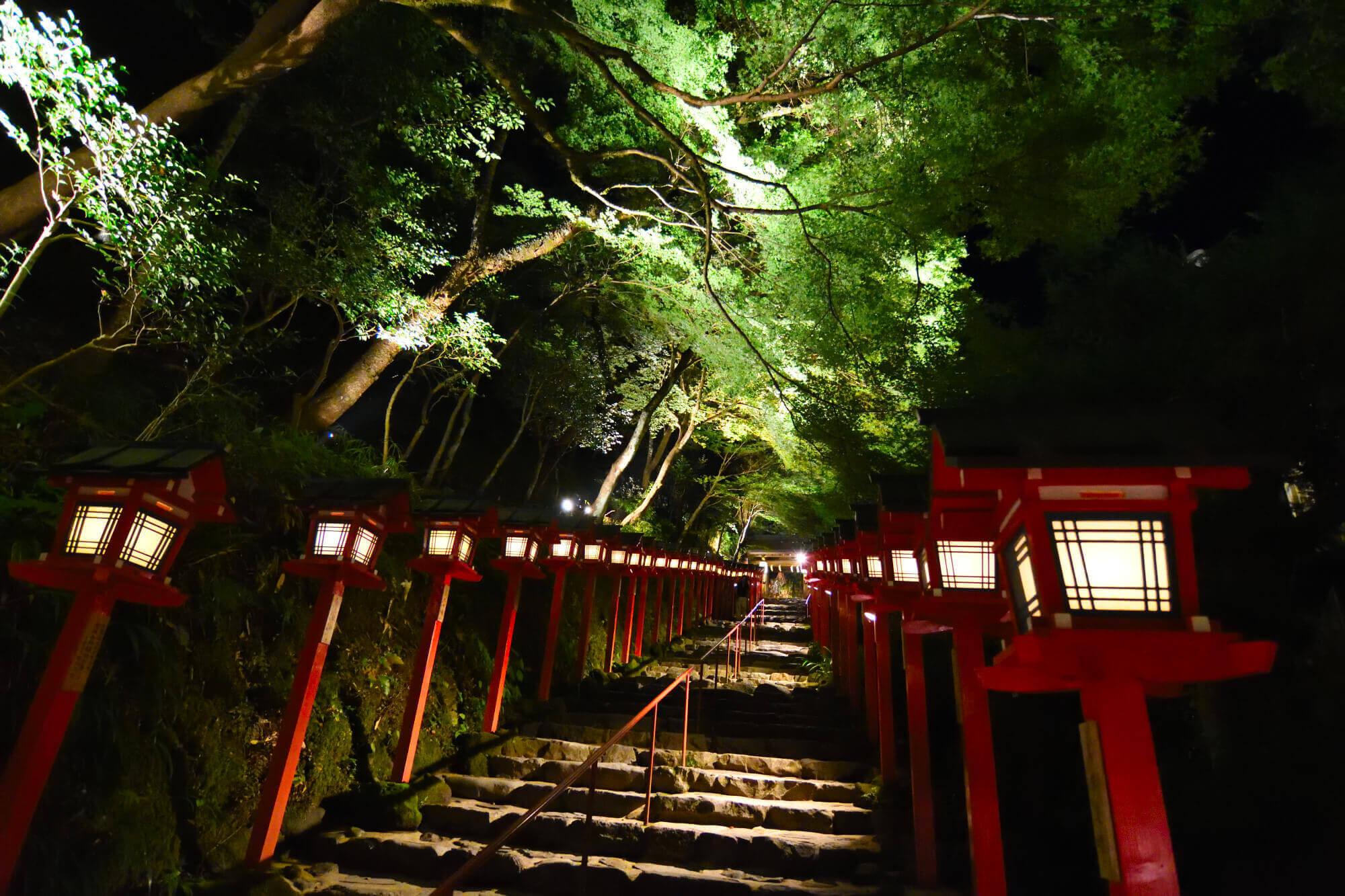 貴船神社七夕ライトアップ
