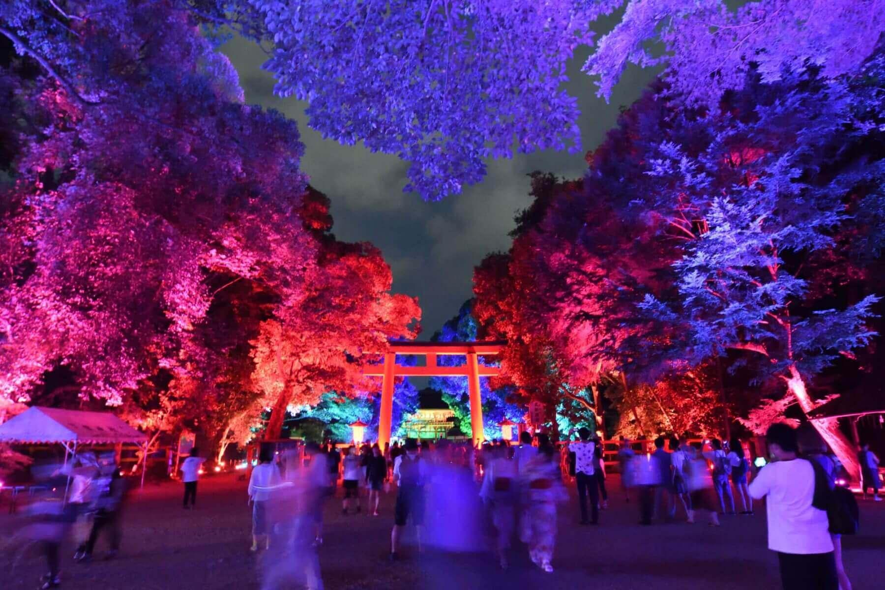 下鴨神社「糺の森の光の祭2016」