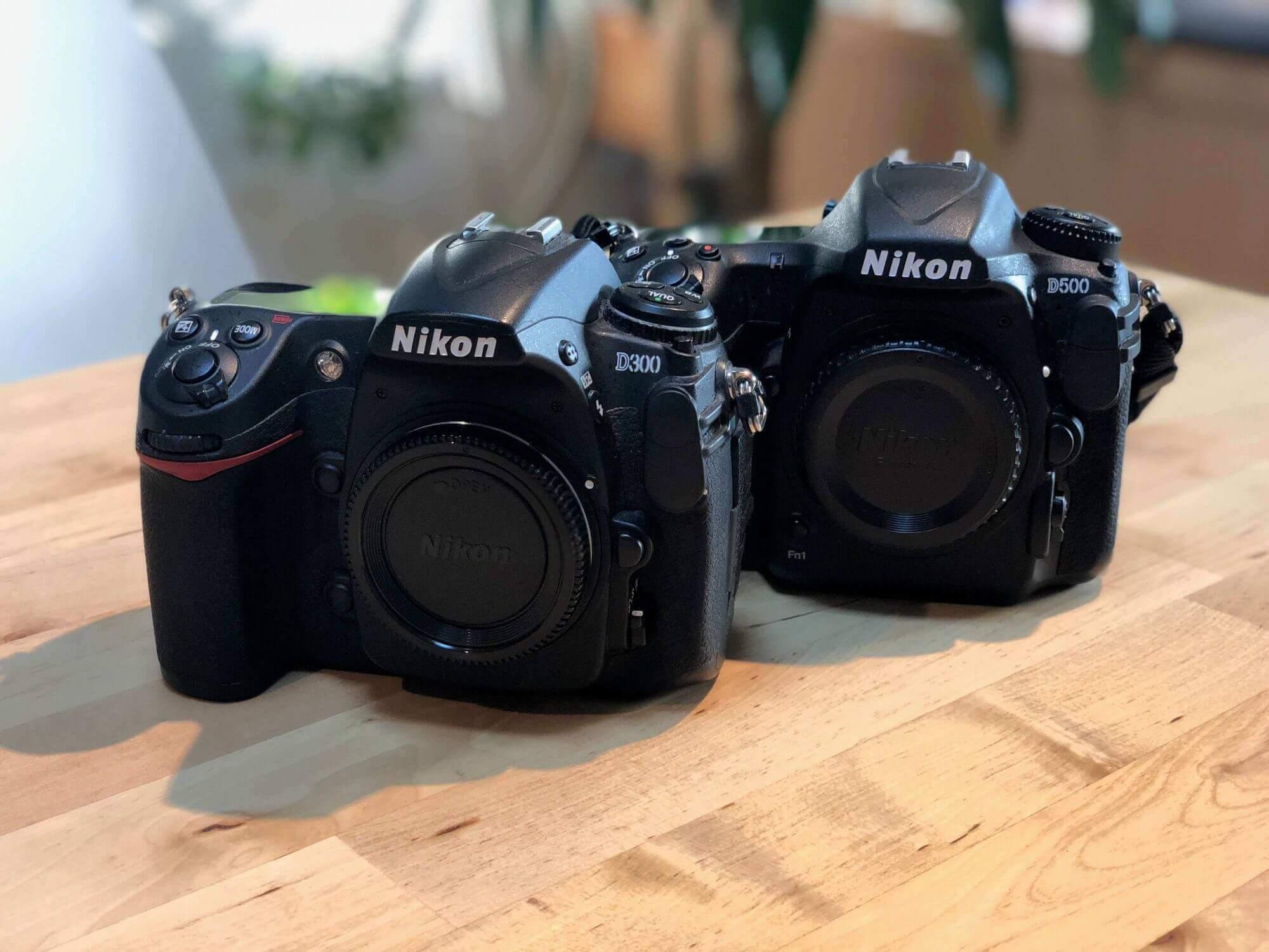 Nikon D300とD500
