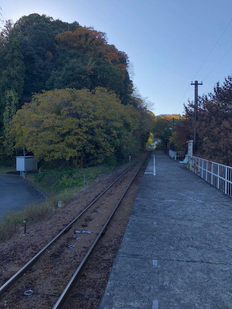 iPhoneXで撮る二俣本町駅