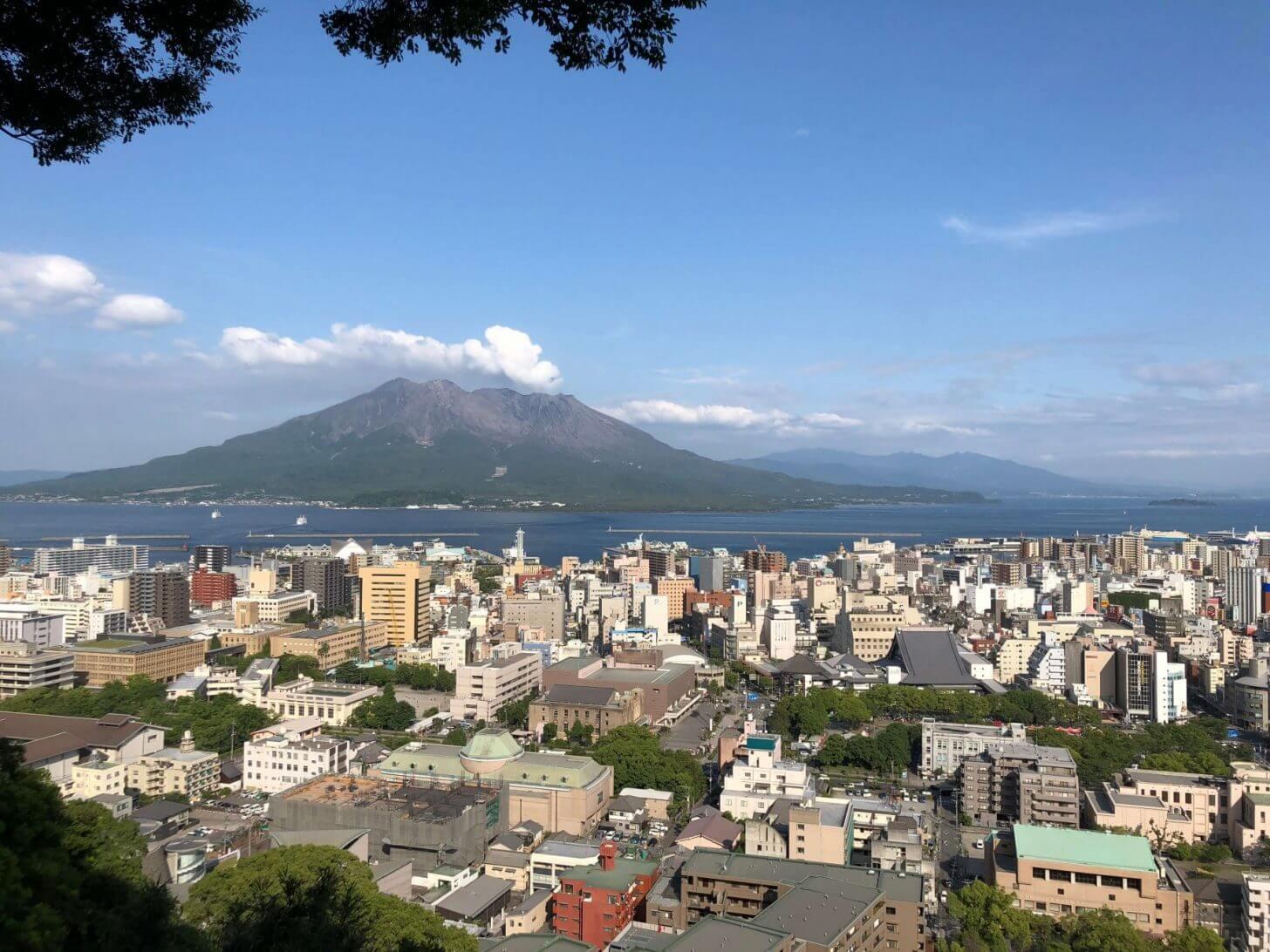 城山公園展望台からの桜島