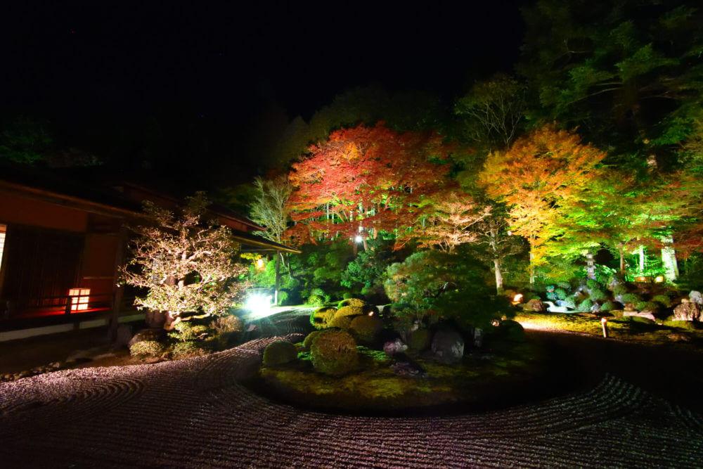 曼殊院門跡 庭園ライトアップ