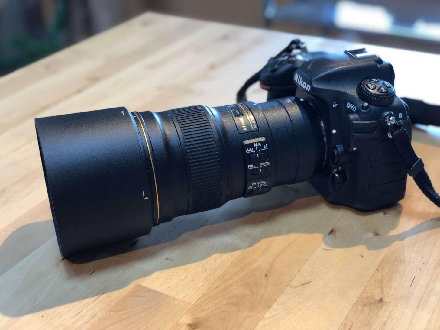Nikon D500にAF-S NIKKOR 300mm f/4E PF ED VRを装着