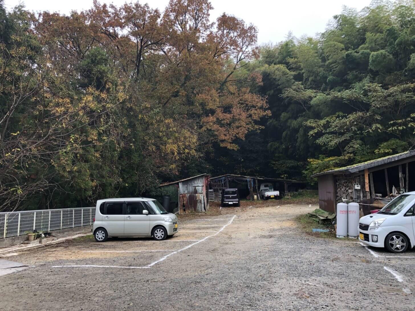 山内うどんの駐車場
