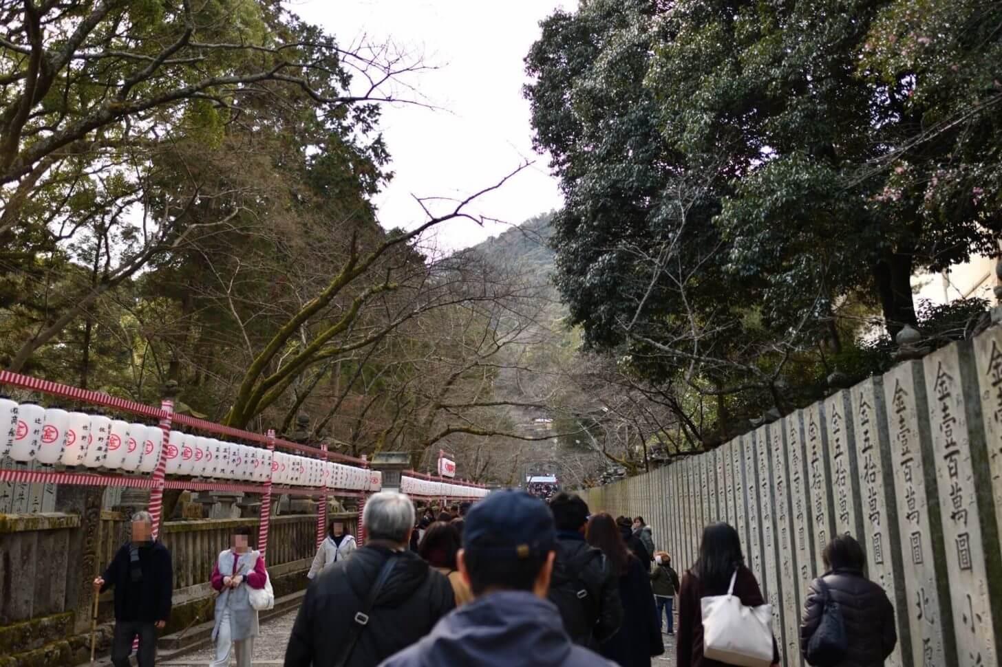 金刀比羅宮・桜馬場の桜並木