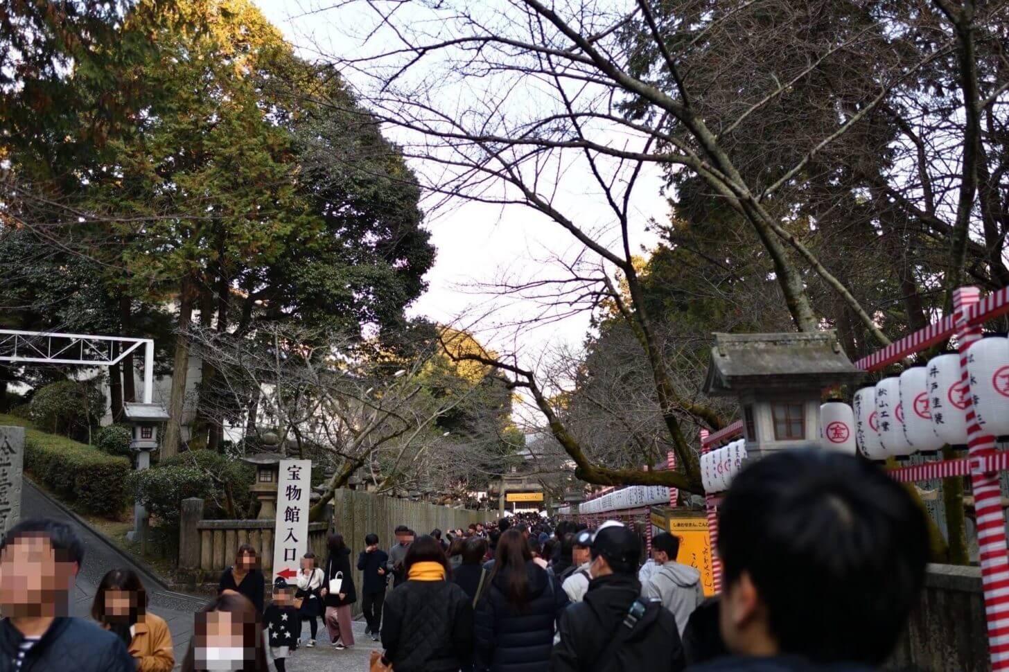 金刀比羅宮・下りの桜馬場の風景