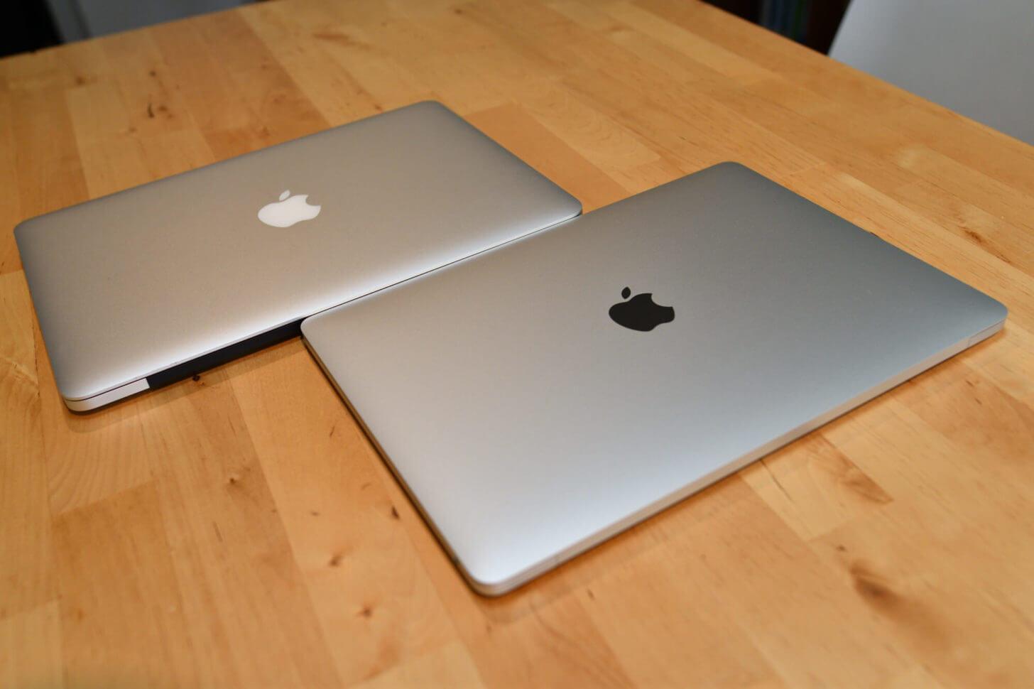 新旧MacBookPro 13インチ