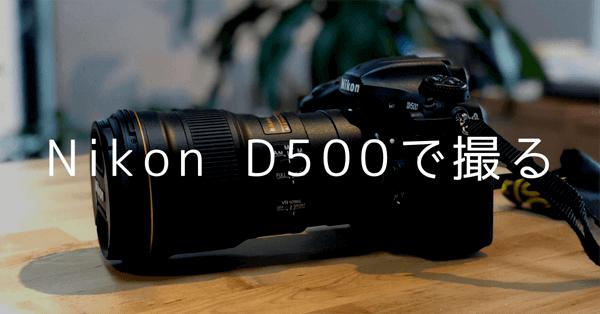 Nikon D500で撮る