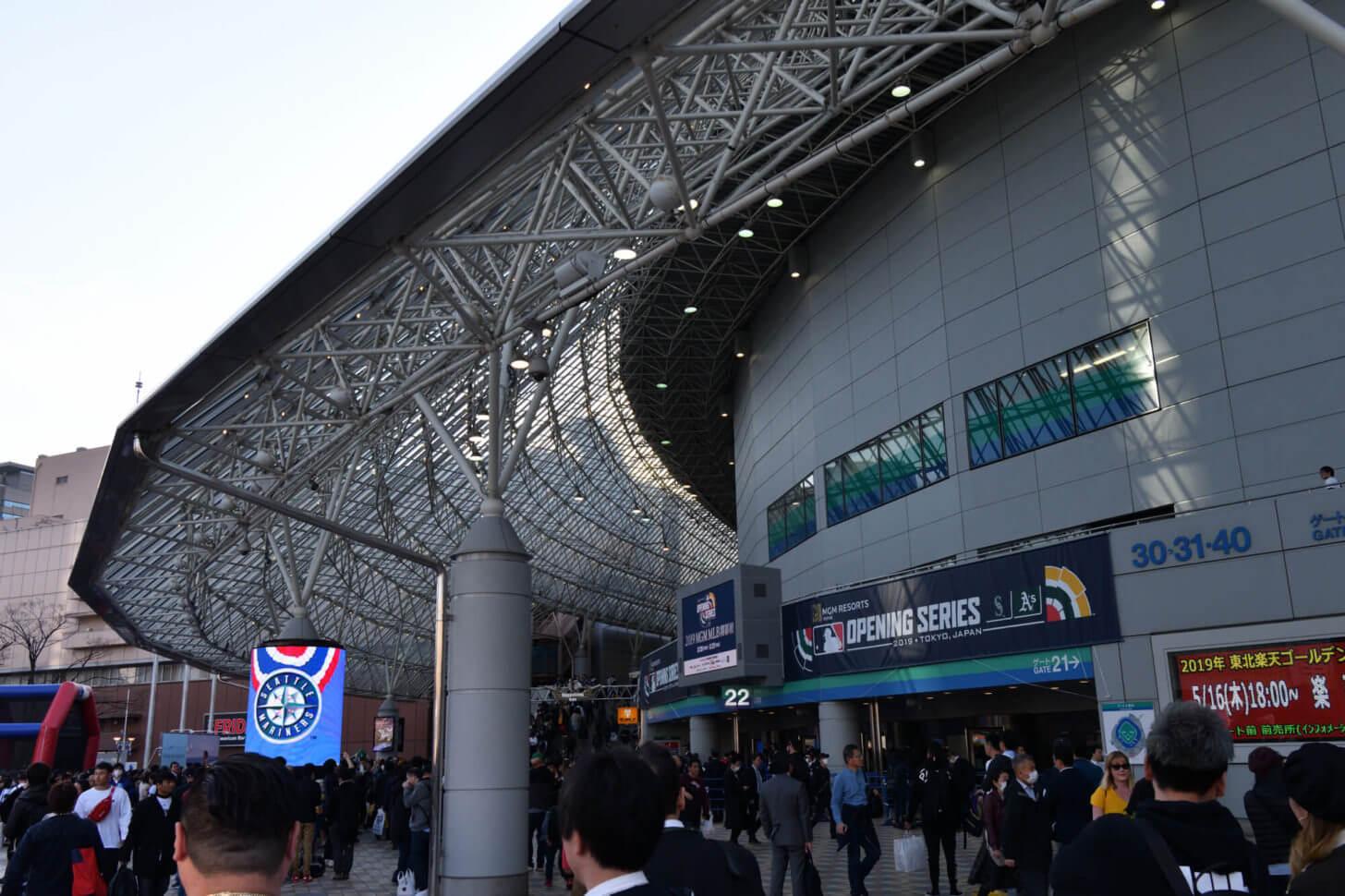 2019MLB開幕戦の東京ドームの風景