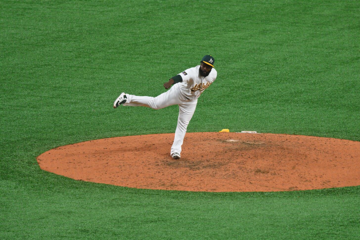 MLB日本開幕戦でのフェルナンド・ロドニー