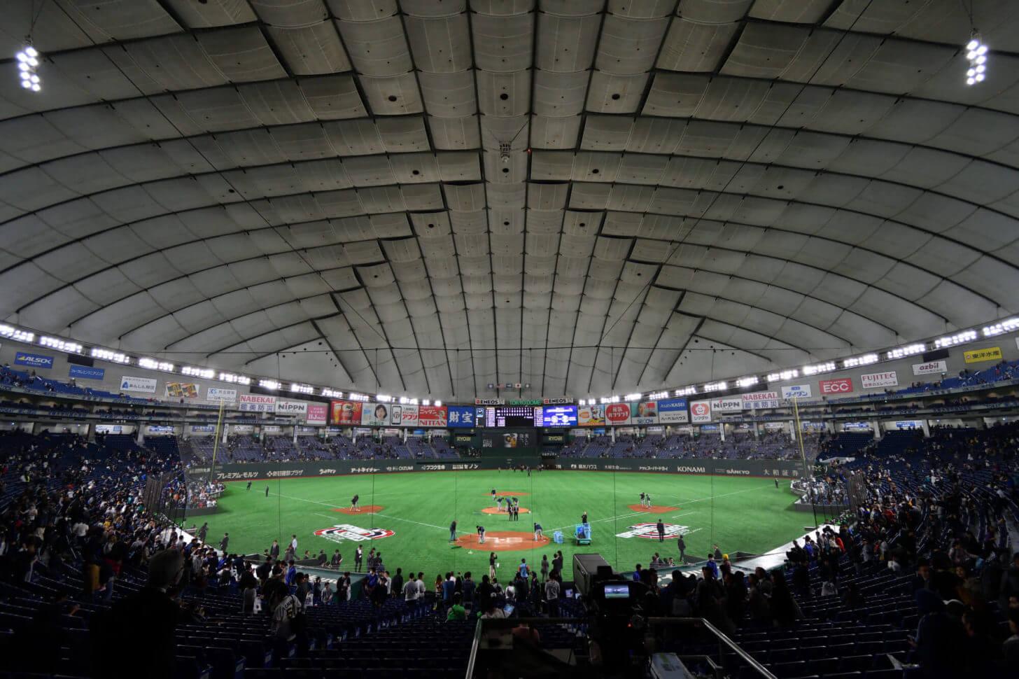 2019MLB開幕戦終了後の東京ドーム