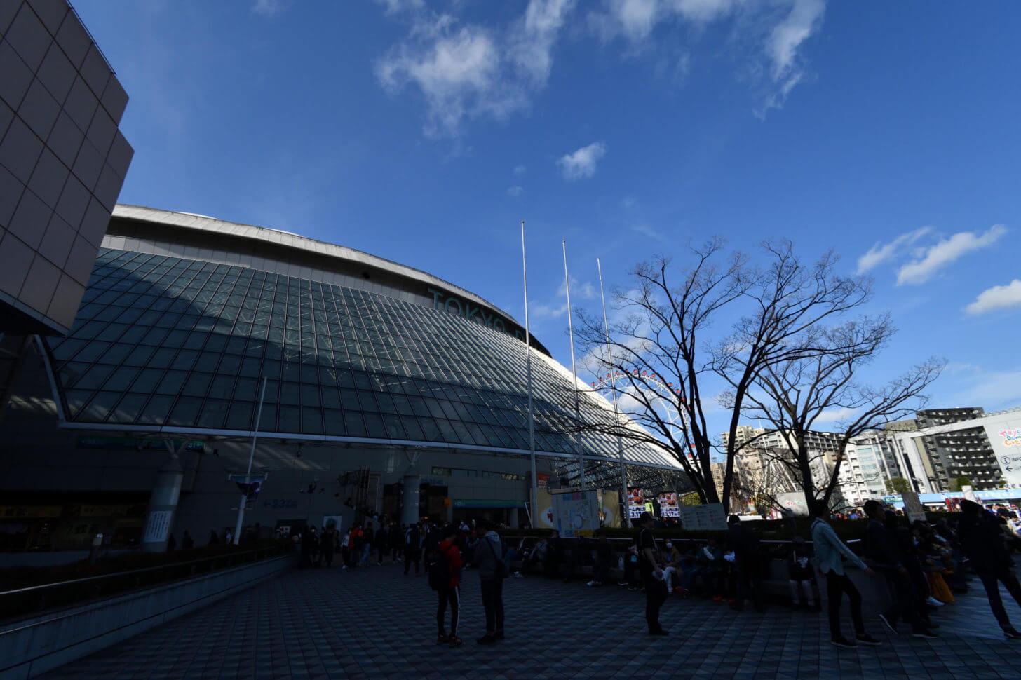 イチロー引退試合の日の東京ドーム外観