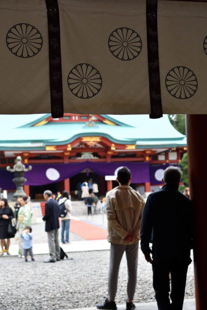 山王日枝神社の境内