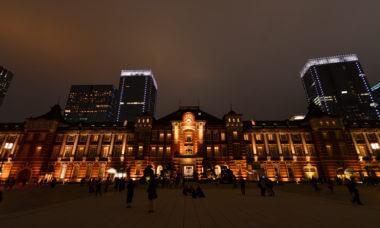 夜の東京駅丸の内駅舎