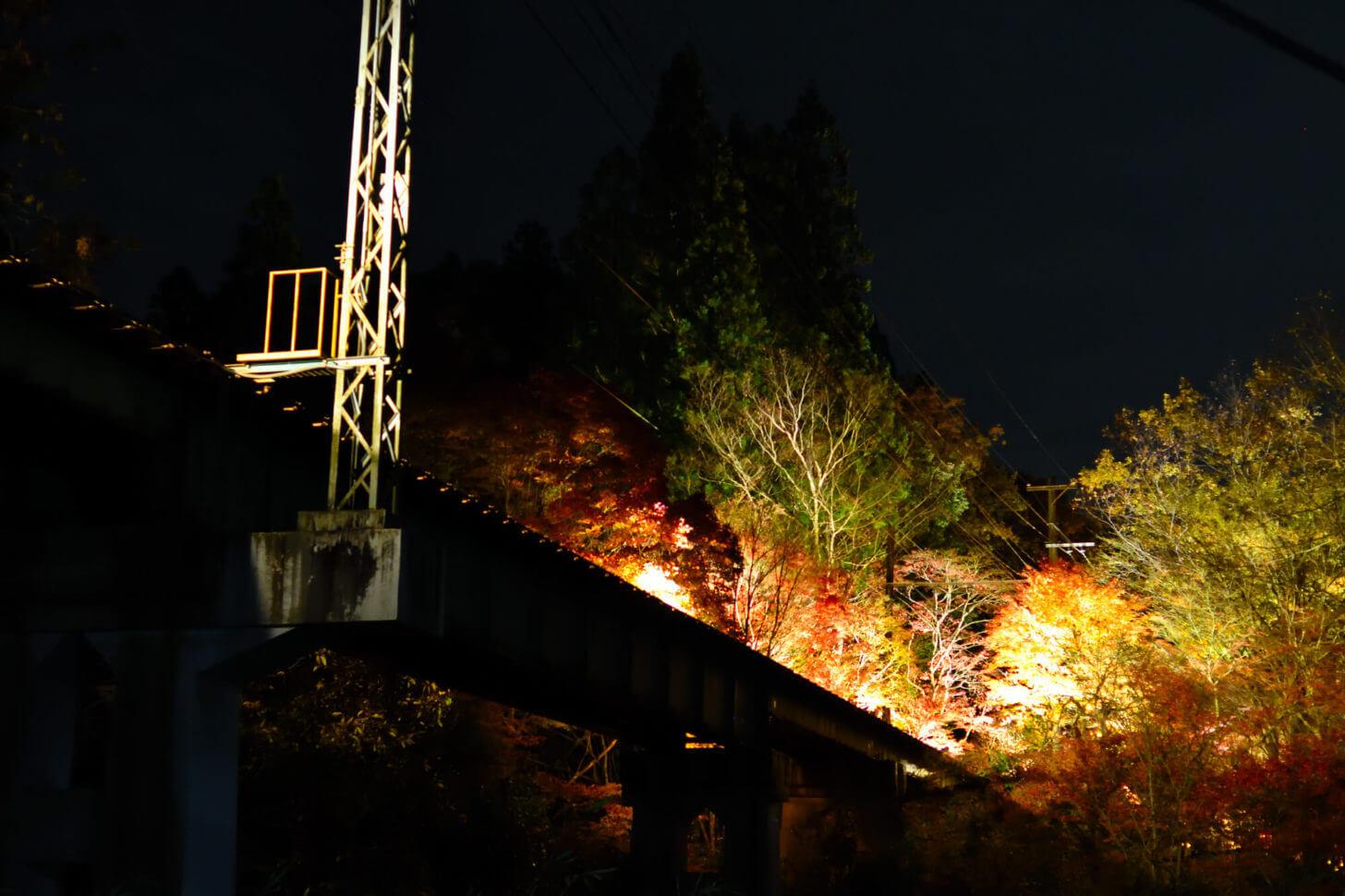 叡山電車・もみじのトンネル北側の鉄橋