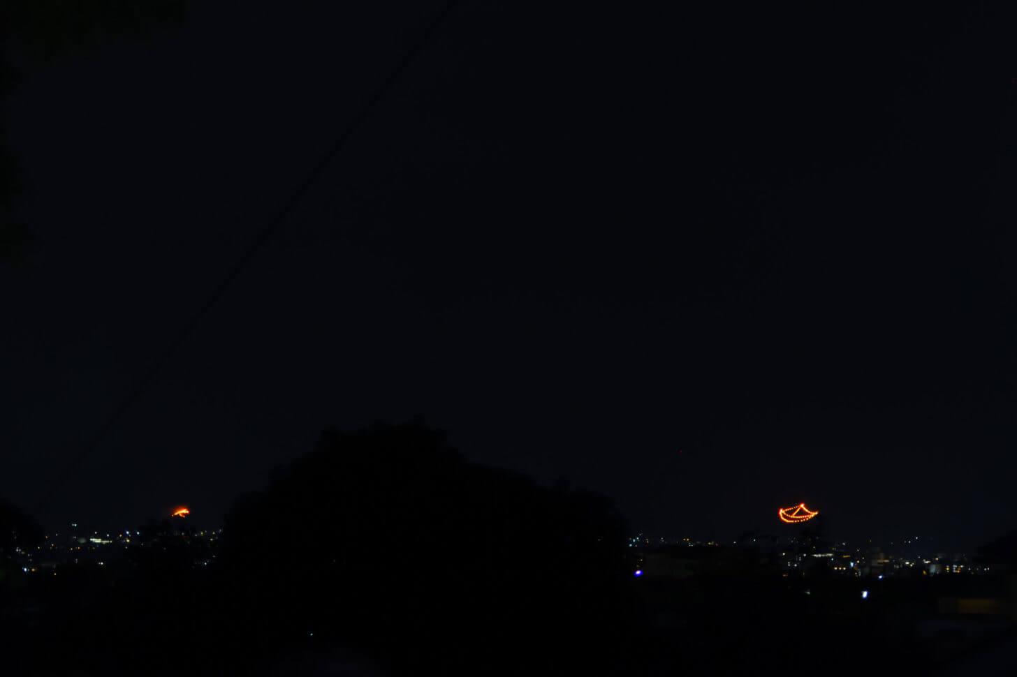 2019五山送り火・船形と左大文字