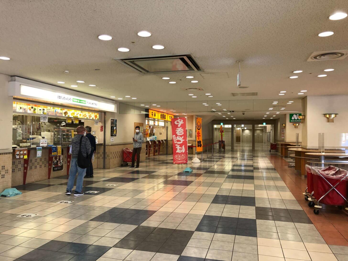 コロナ禍の京都競馬場フードコート
